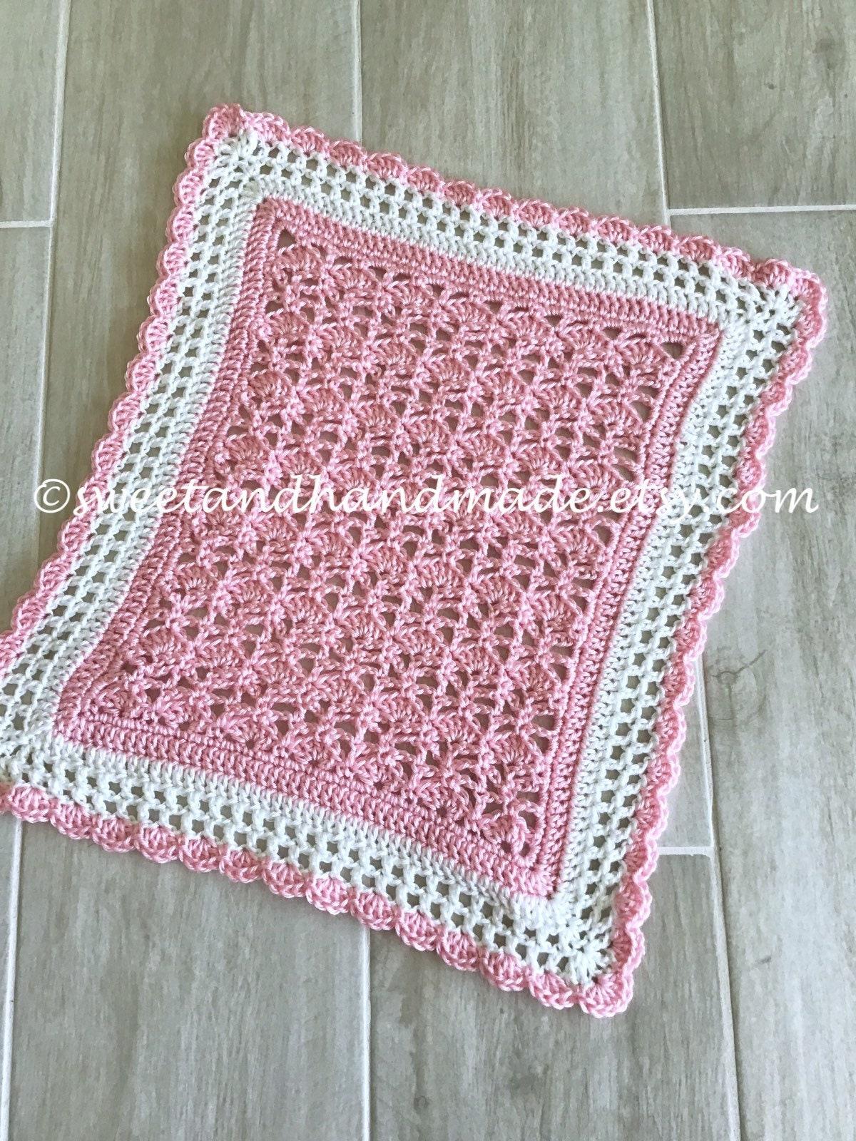 Doll Blanket Crochet Doll Blanket Pink White Doll Blanket Doll Etsy