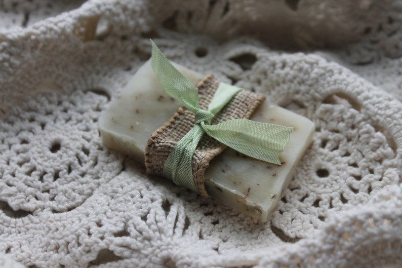Soap Favors Weddings Bridal-Baby-Showers-Burlap and Vintage image 0
