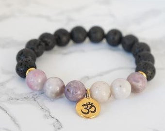 Essential Oil Om Bracelet - Essential Oil Diffuser Bracelet