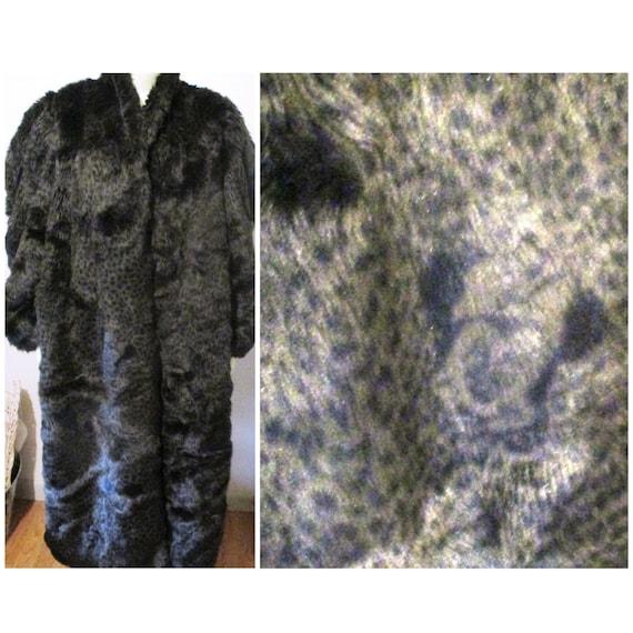 Vintage Faux Fur Coat Jacket Mickey Mouse Disney A