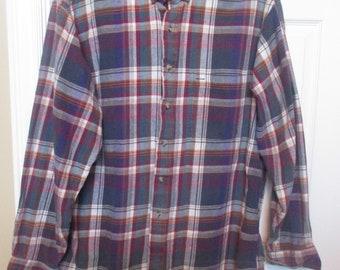 c538090d Vintage GANT Salty Dog Flannel Shirt Mens Large Made USA Plaid Pattern  Checks, stripes Free Shipping!!