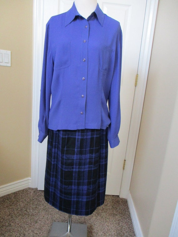 Vintage Pendleton 2 Piece Womens Suit Size 8 Royal Blue Top Etsy