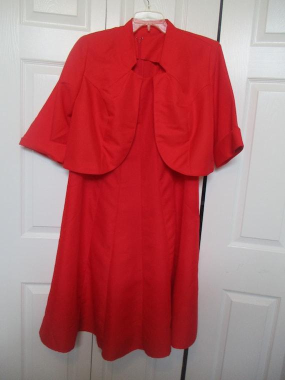 Roamans Dress plus Size 16W Two Piece red Dress