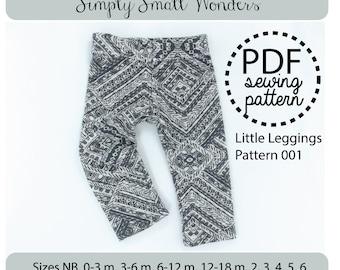 Girls Leggings Baby Leggings PDF Sewing Pattern Tutorial