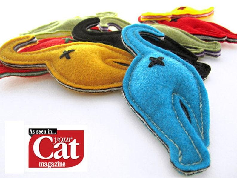 Nip-in-the-Butt Cat Butt Handmade Catnip Cat Toy image 0