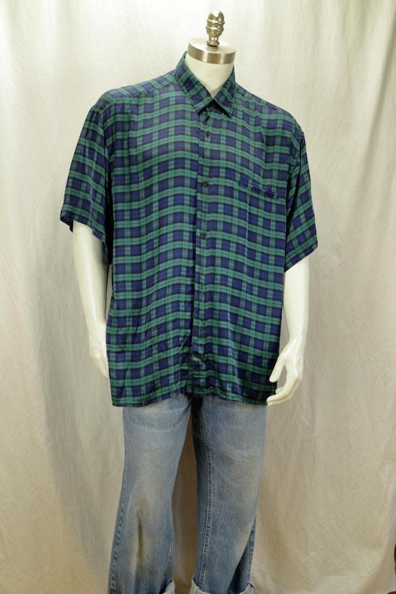 820fd2104f9 Men short sleeve silk shirts 90s mens clothing Vintage retro