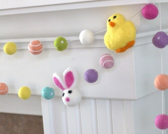 Felt EASTER chicks 2.5cm Assorted bright colours   Children Craft 100