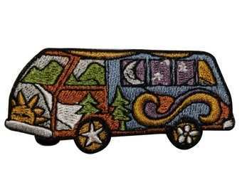 IronSew-On Embroidered Patch Applique Hippie Butterfly Wander Van 3.5 Trippy Road Trip Peace Love Music Fest Chill Gift WNDR