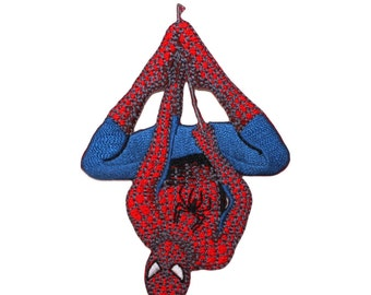 8346cb7c6b398 Spider-Man Hanging Web Line Patch Marvel Comics Superhero Fan Iron-On  Applique