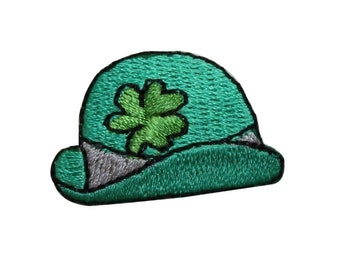 ec7af6a3811 ID 7580 Leprechaun Hat Patch St Patrick s Day Clover Embroidered IronOn  Applique