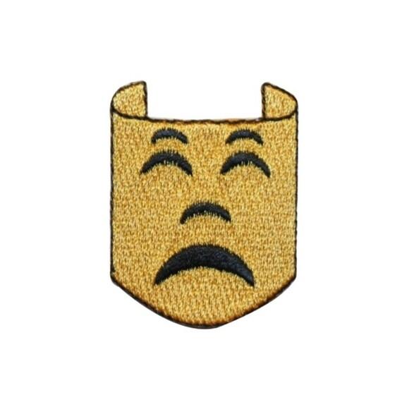 Mardi Gras Drama Drama Faces Embroidered Iron On Applqiue Patch