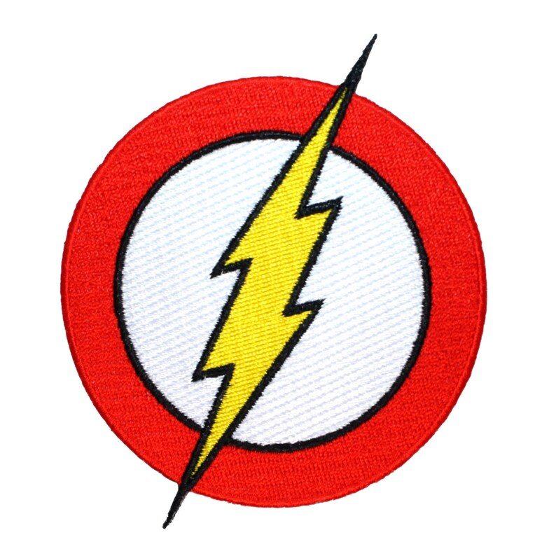 Flash Logo Superhero Patch Costume Lightning Emblem Dc Comics Etsy