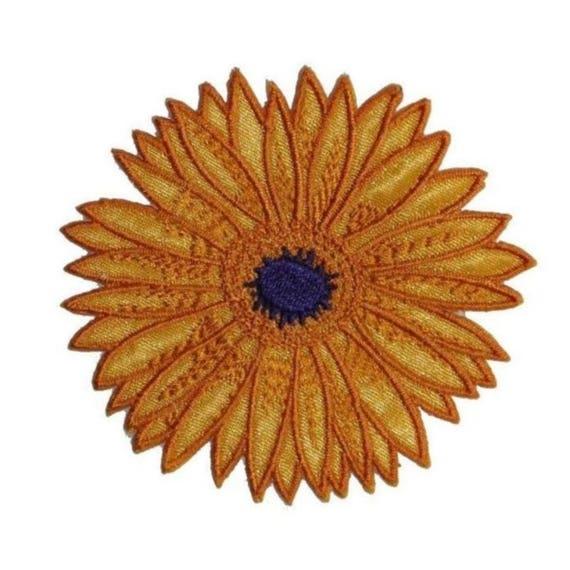 Embroidered Iron On Applique Patch Gardening Sunflower Spring Garden