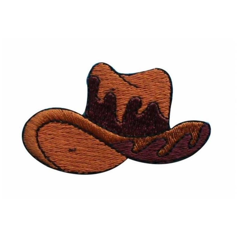 7366b48728db7 ID 1345 Cowboy Hat Patch 10 Gallon Ranch Cap Embroidered Iron