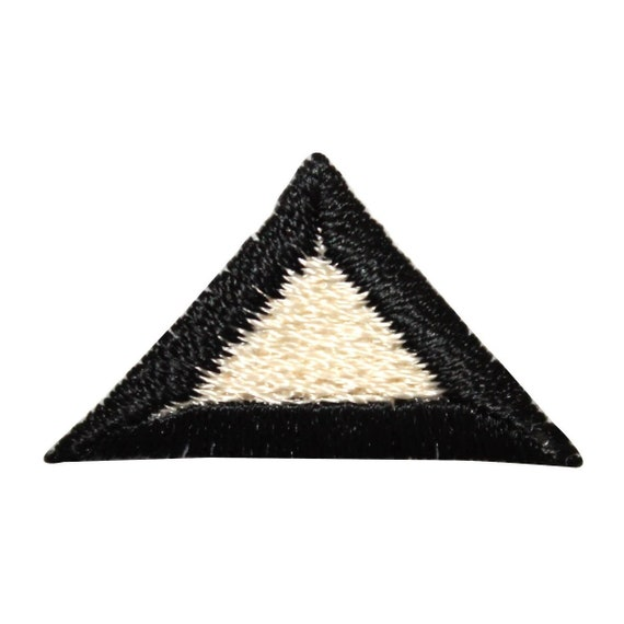 Id 8820 Lot Of 3 Triangle Symbol Patch Shape Craft Embroidered Etsy