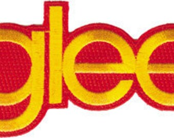 Glee Name Logo Embroidered Iron On Applique Patch