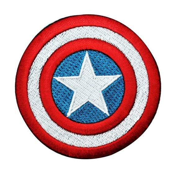Classic Captain America Shield Logo Embroidered Iron on Patch
