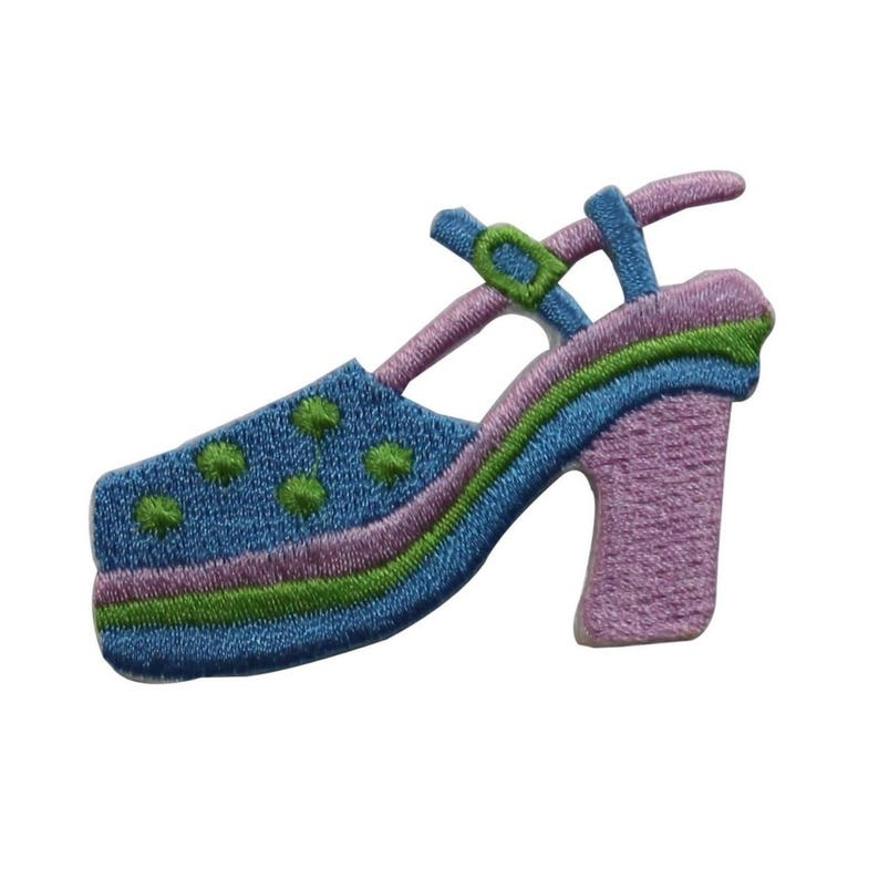 ID 7430 Spotted Sandal High Heel Patch Fashion Shoe Embroidered Iron On Applique