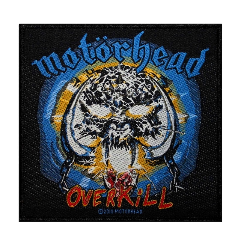 Motorhead Overkill Patch Album Cover Art Heavy Metal Band Woven Sew On  Applique