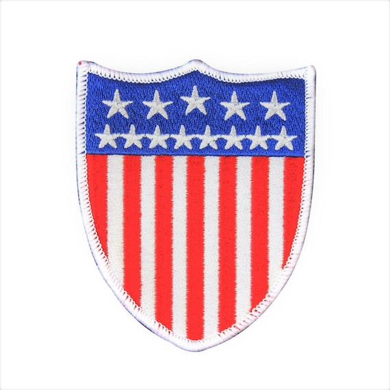Patch printed embroidered travel souvenir iron  american flag usa united states