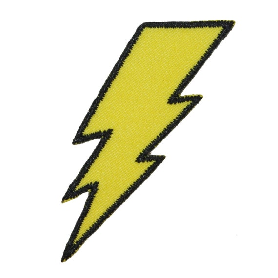 Lightning Bolt Patch Symbol Electric Zap Icon Flash Strike