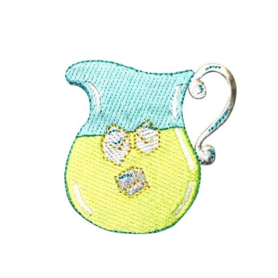 Embroidery Applique Patch Sew Iron Badge Lemonade Summer Drink Iron On