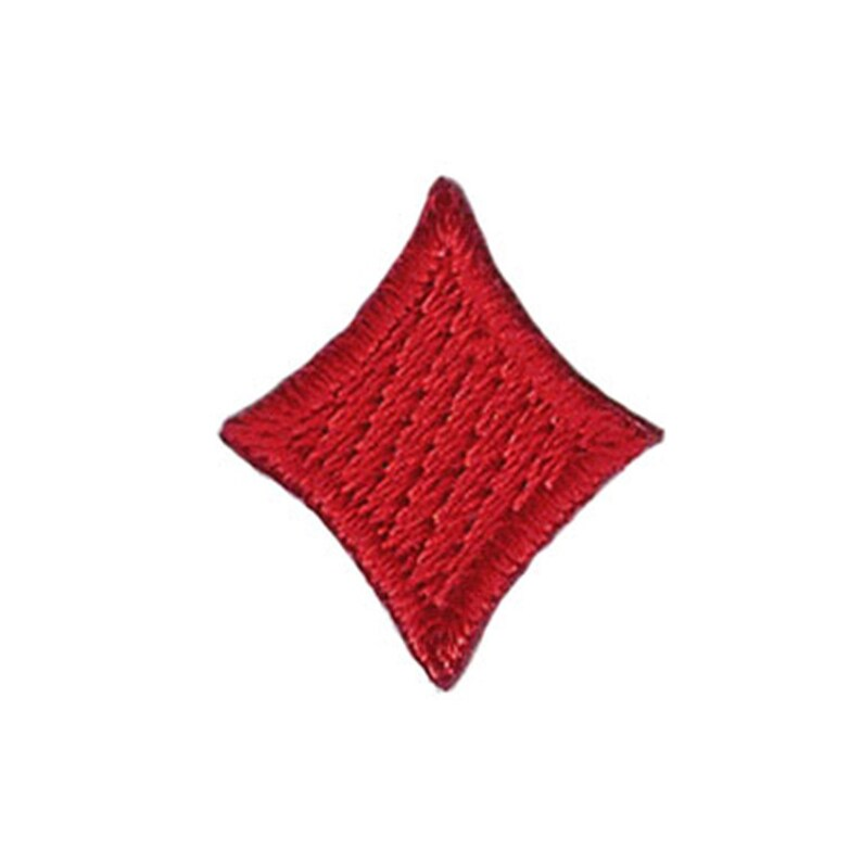 Small Diamond Card Suit Patch Set Poker Symbol Embroidered Iron On Applique