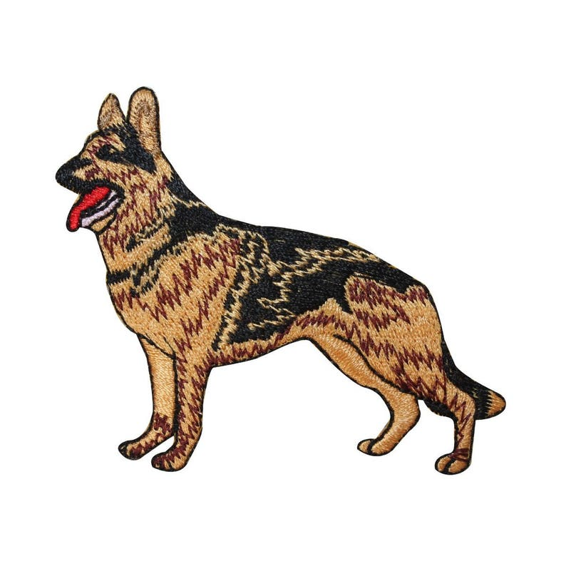 ID 2763 German Shepherd Dog Patch Puppy Breed Pet Embroidered Iron On Applique