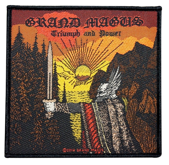 Grand Magus Triumph Und Macht Patch Album Cover Art Metal Band Etsy