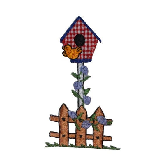 Spring Home Fence Gardening Embroidered Iron On Applique Patch Flowers