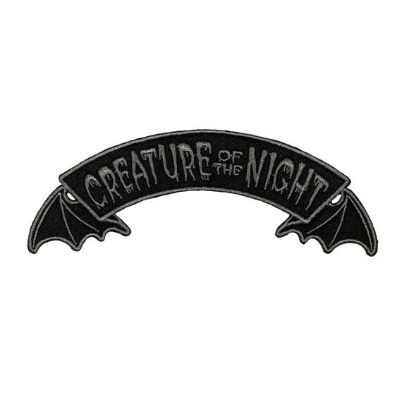 Patch Creepy Bat Black And White 6 x 7cm