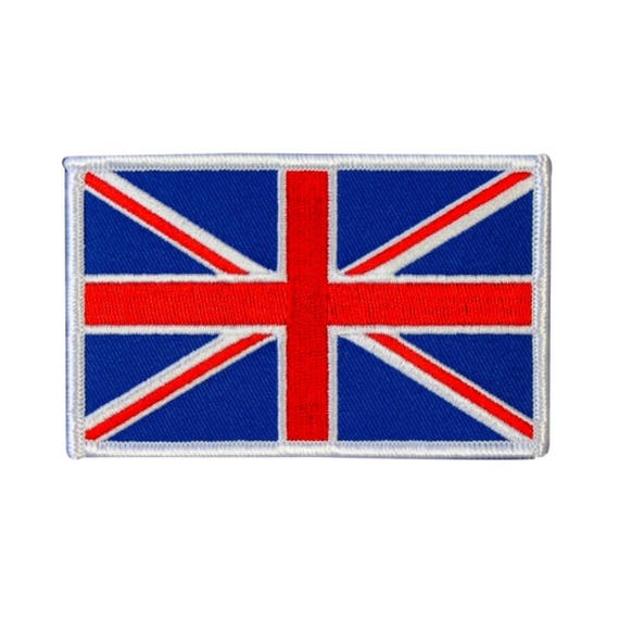 England Union Jack British Flag Embroidered Sew On Patch Applique Badge