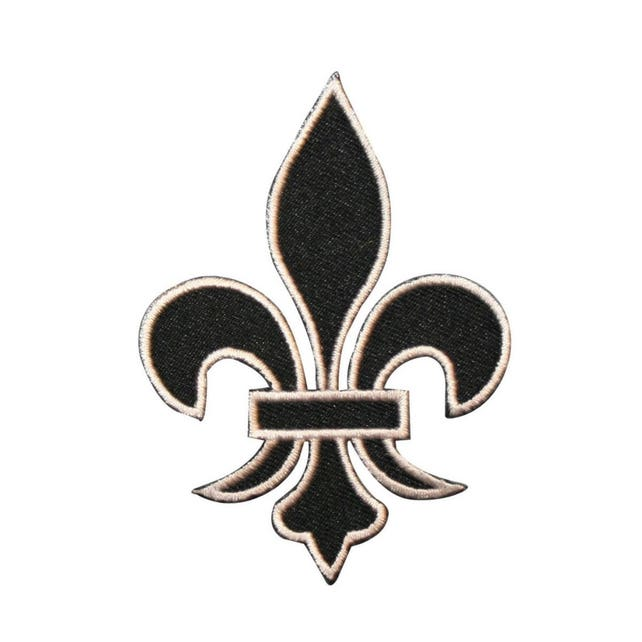 Id 3392 Fleur De Lis Symbol Patch French Flower Embroidered Etsy