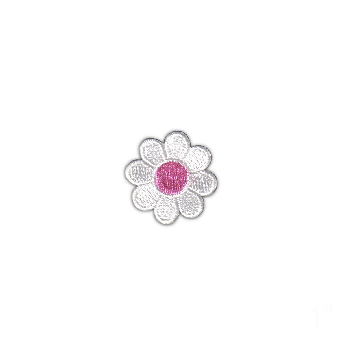 1 Daisy White Petals Pink Center Patch Flower Cute Etsy