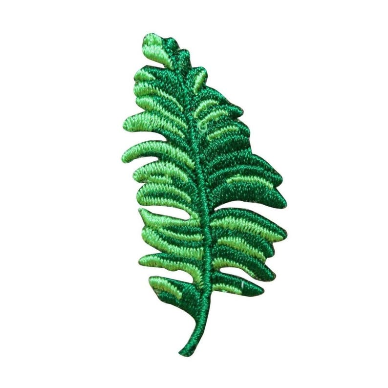 ID 7181 Tropical Fern Patch Plant Branch Leaf Craft Embroidered Iron On  Applique