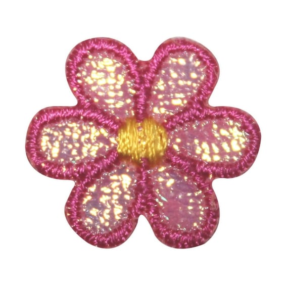 ID 8480 Lot of 3 Pink Daisy Flower Patch Blossom Embroidered Iron On Applique