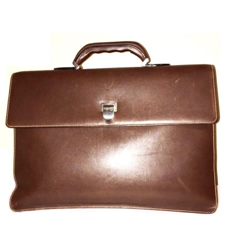 Asprey Bag Brown Luxury Leather Briefcase for Men Rare  e1467a2d060aa
