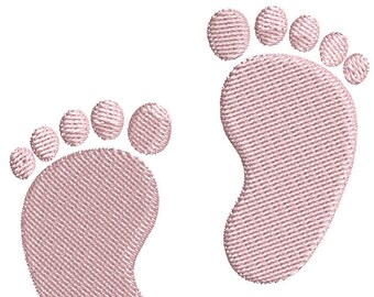 Baby Feet Infant Feet Embroidery Design in 2 Sizes - Instant Download - Digital Machine Embroidery Design