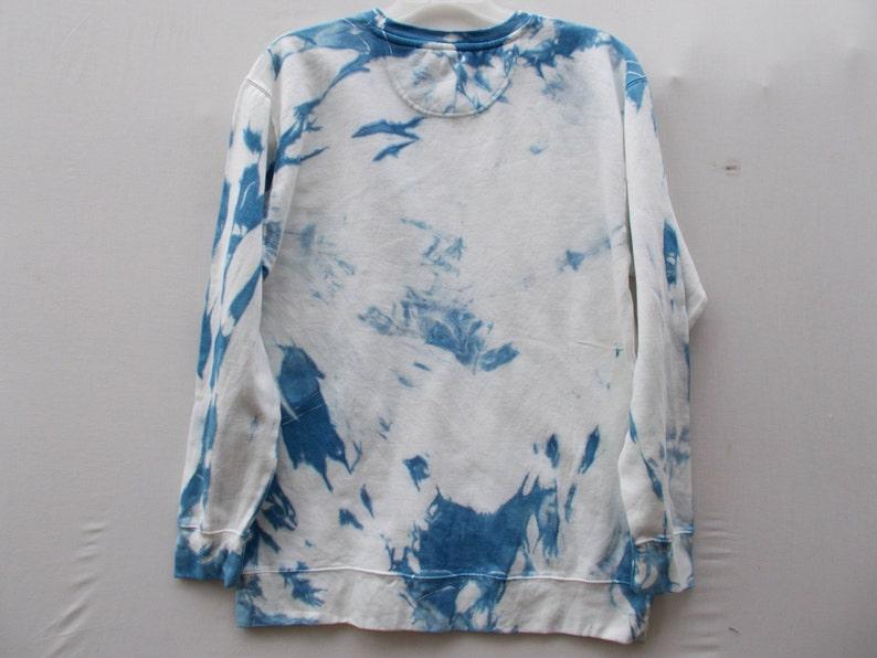 Large Sweater Shibori tie dye sweatshirt Extra Long sweatshirt Indigo Sweatshirt