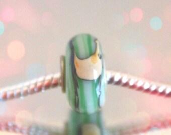 European Green Glass Bead  for Bead Bracelets
