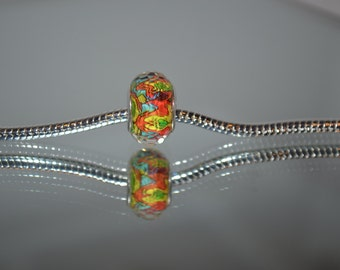 Acrylic European Tye-Dye Bead