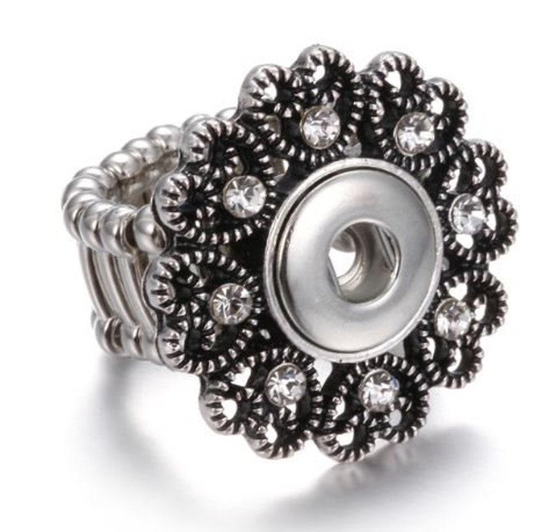 Elastic Rhinestone MINI Snap Ring