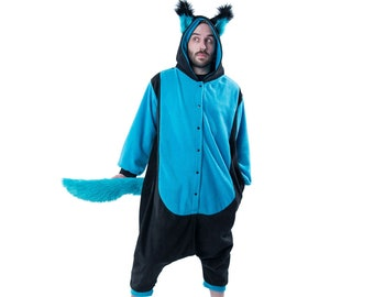 2761a4b52 Pawstar WOLFY HOWL Kigurumi - Wolf ears & Tail Kigu Furry Fleece Faux Fur  cosplay fox canine animal suit costume Onesie Style pajamas 6302