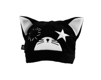 781b2d62cd7 Pawstar Ragdoll Kitty cat Hat - Fleece Beanie Purple Pink Red Black White  cyber goth stitch star anime sally cosplay kawaii cute kei 1703