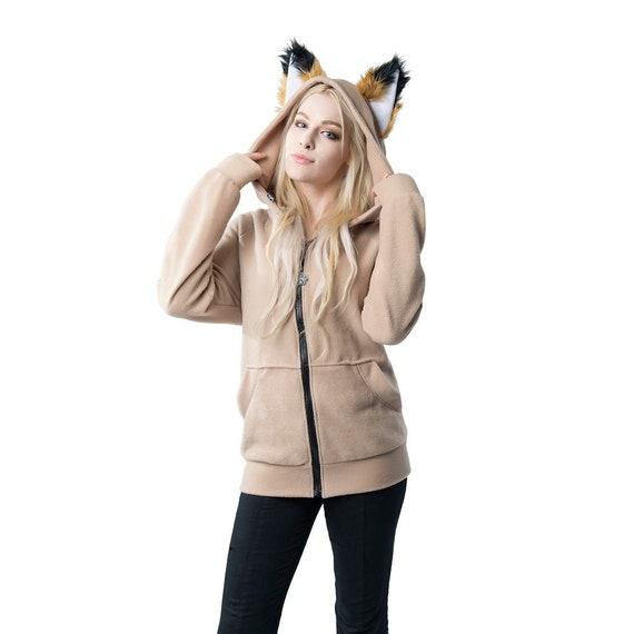 a3292b9c65942 Pawstar Classic Fox Yip hoodie jacket Ear Arctic Shadow Brown