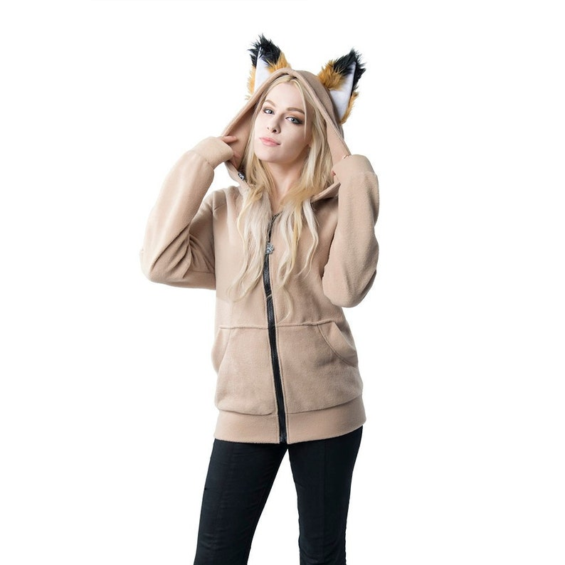 46918c3c1 Pawstar Classic Fox Yip hoodie jacket Ear Arctic Shadow image ...