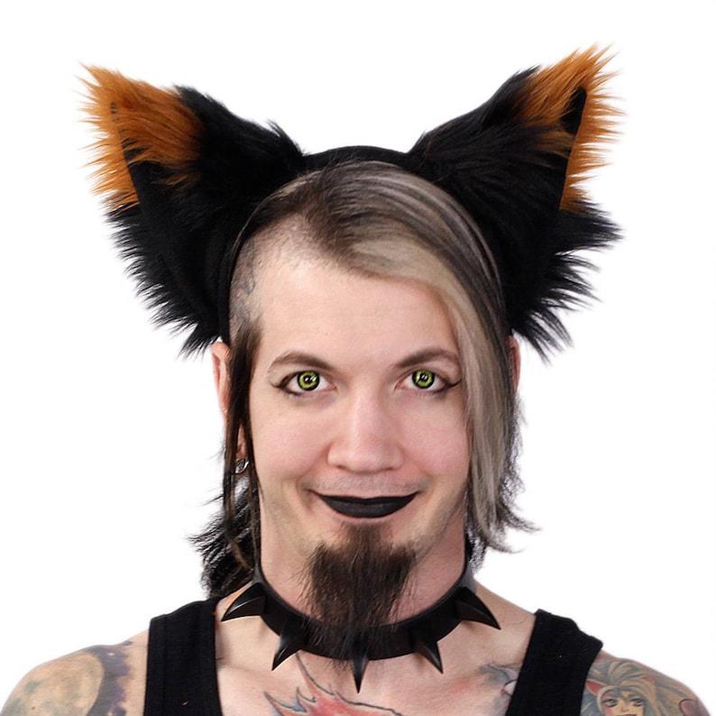 Pawstar YIP TIP FOX Ears Headband Fluffy Furry Wolf Kitty Cat Black White Red Orange Yellow Lime Green Blue Purple Pink Grey Tan 3062