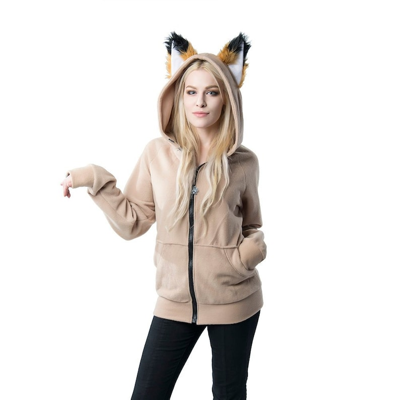 48d846832 ... Pawstar Classic Fox Yip hoodie jacket Ear Arctic Shadow image ...