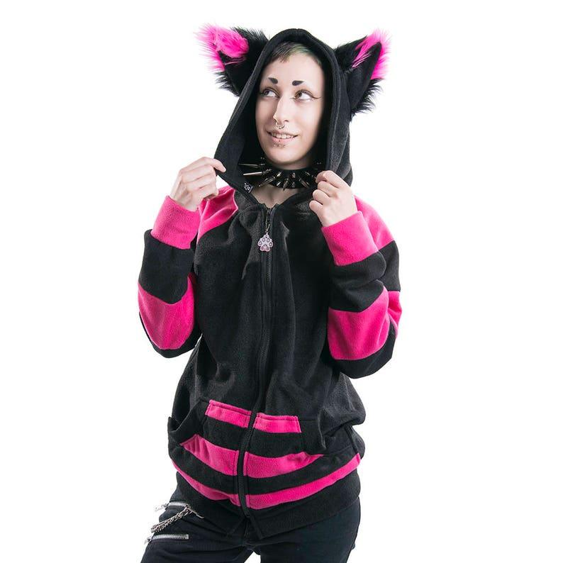 ddc882904 Pawstar STRIPEY Fox Yip HOODIE Fleece Jacket Furry Animal | Etsy