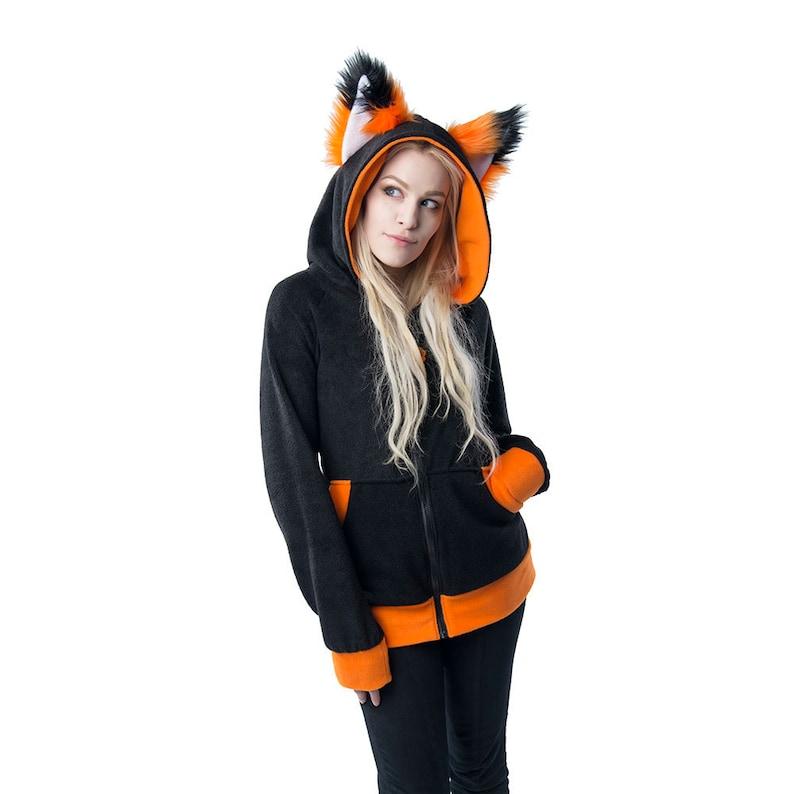 44053c8818a28 Pawstar FOX Ears Hoodie Animal Jacket Coat Hoody Soft Fluffy